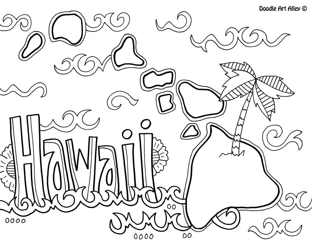 Preschool Hawaii Coloring Pages