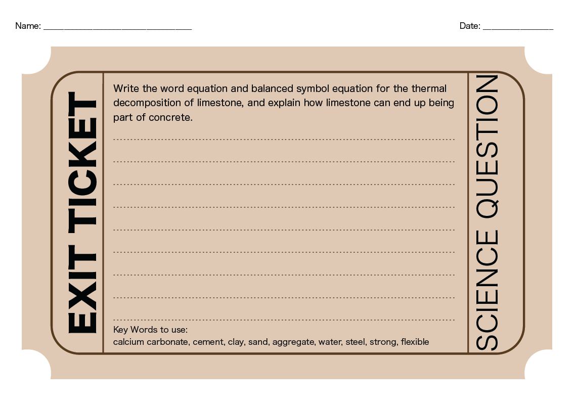 Exit Ticket Style Worksheets For Qwc Questions Good