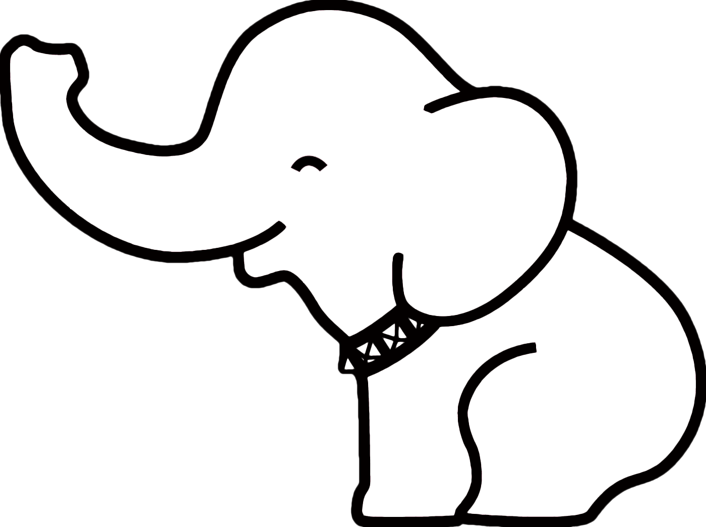 Pin Elephant Outline