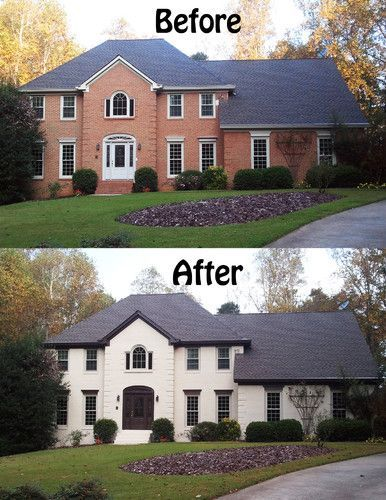 Painting Brick Exterior Unique With 1000 Ideas About Painted Homes On