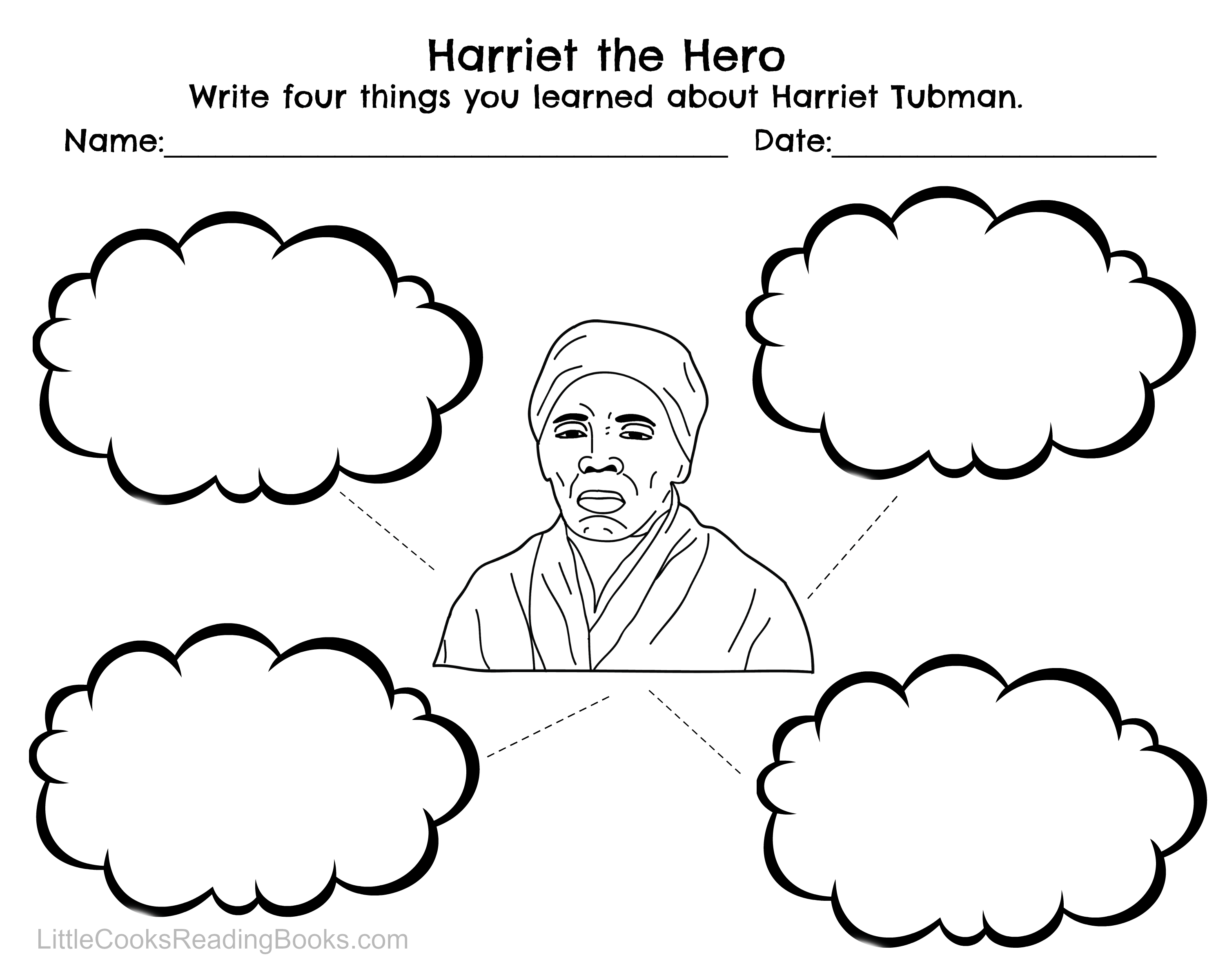Harriet Tubman 1st Grade Worksheet