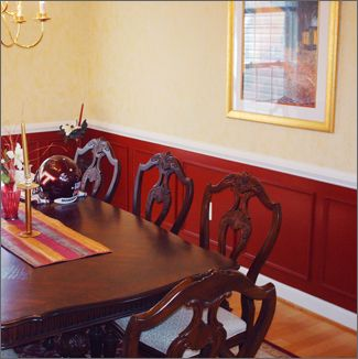Exciting Dining Room Paint Ideas With Chair Rail Images House