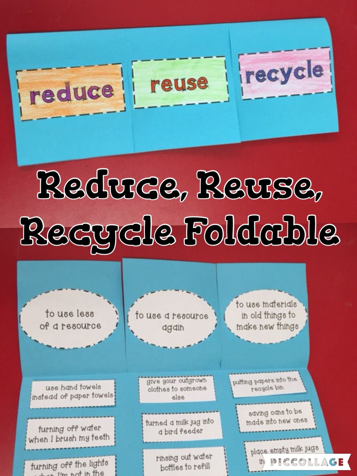 Reduce Reuse And Recycle Earth Day Foldable And Activities