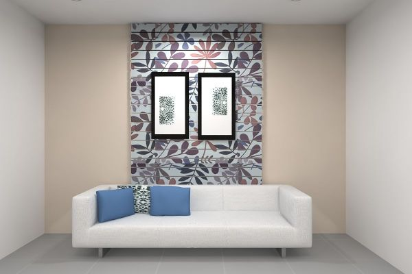 New shades wallpaper sofa background at Home Design ...