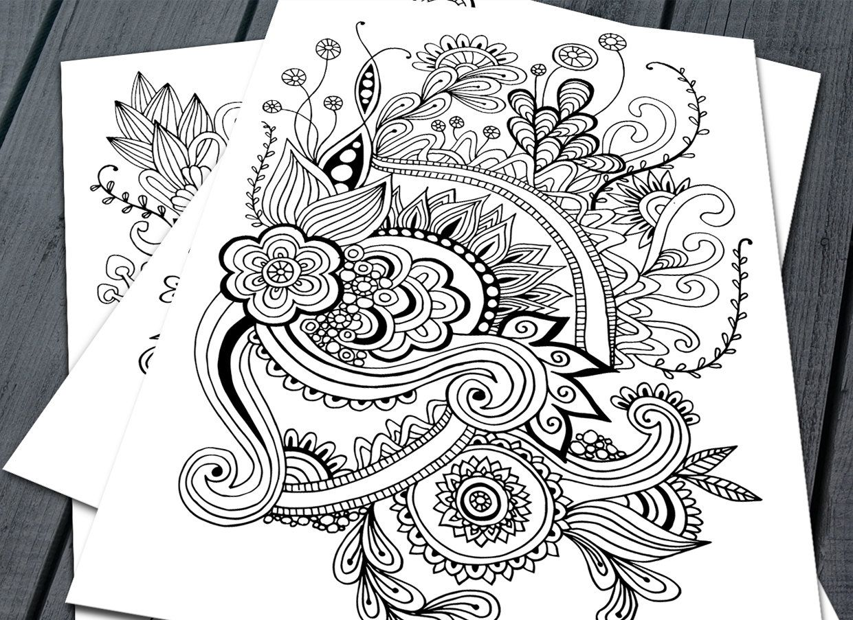 Doodle Adult Colouring Pages Printable Colouring Pages