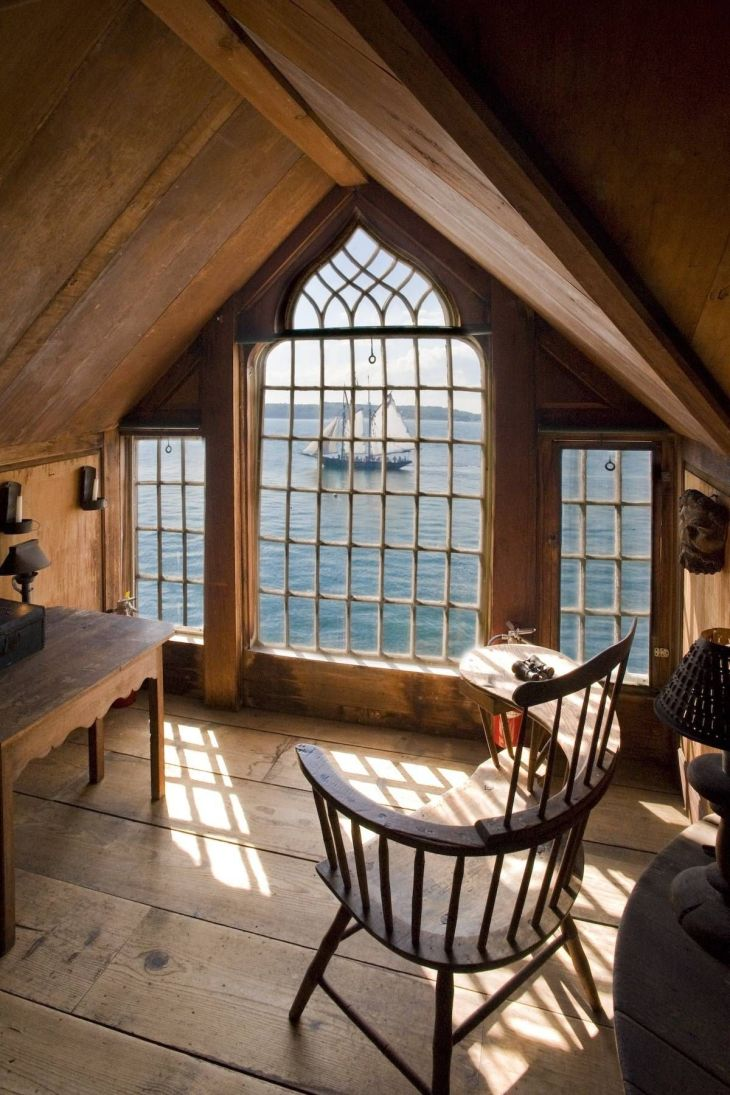 Attic with a view  DreamHouse  Pinterest  Attic rooms Cape cod