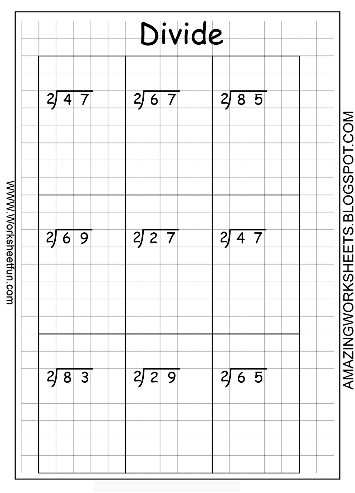 Worksheet 2 Digit Multiplication Graph Paper Printable