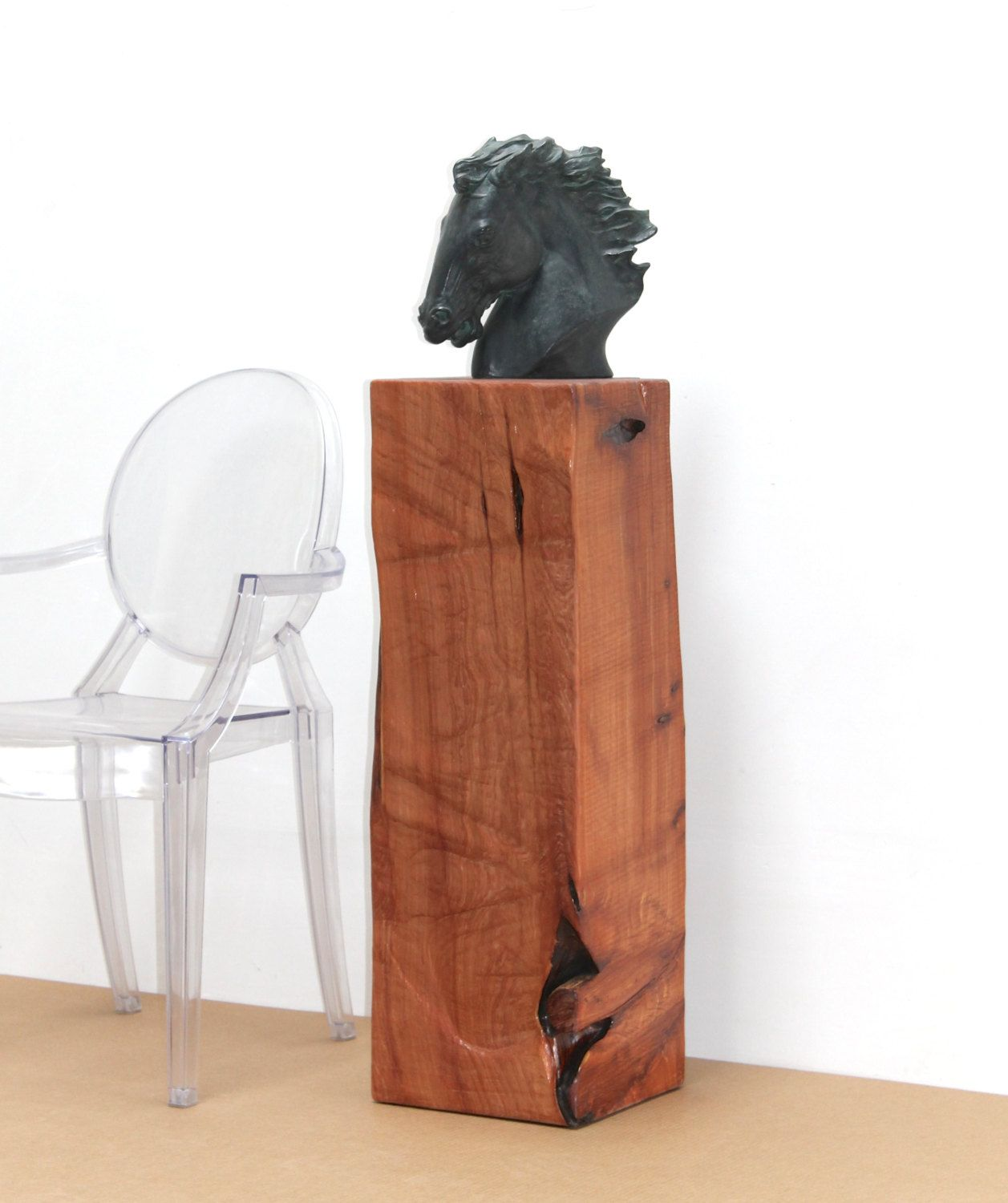 Reclaimed Timber Pedestal Stand Display Cedar By