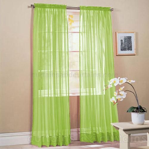 Bedroom Curtains Lime Green