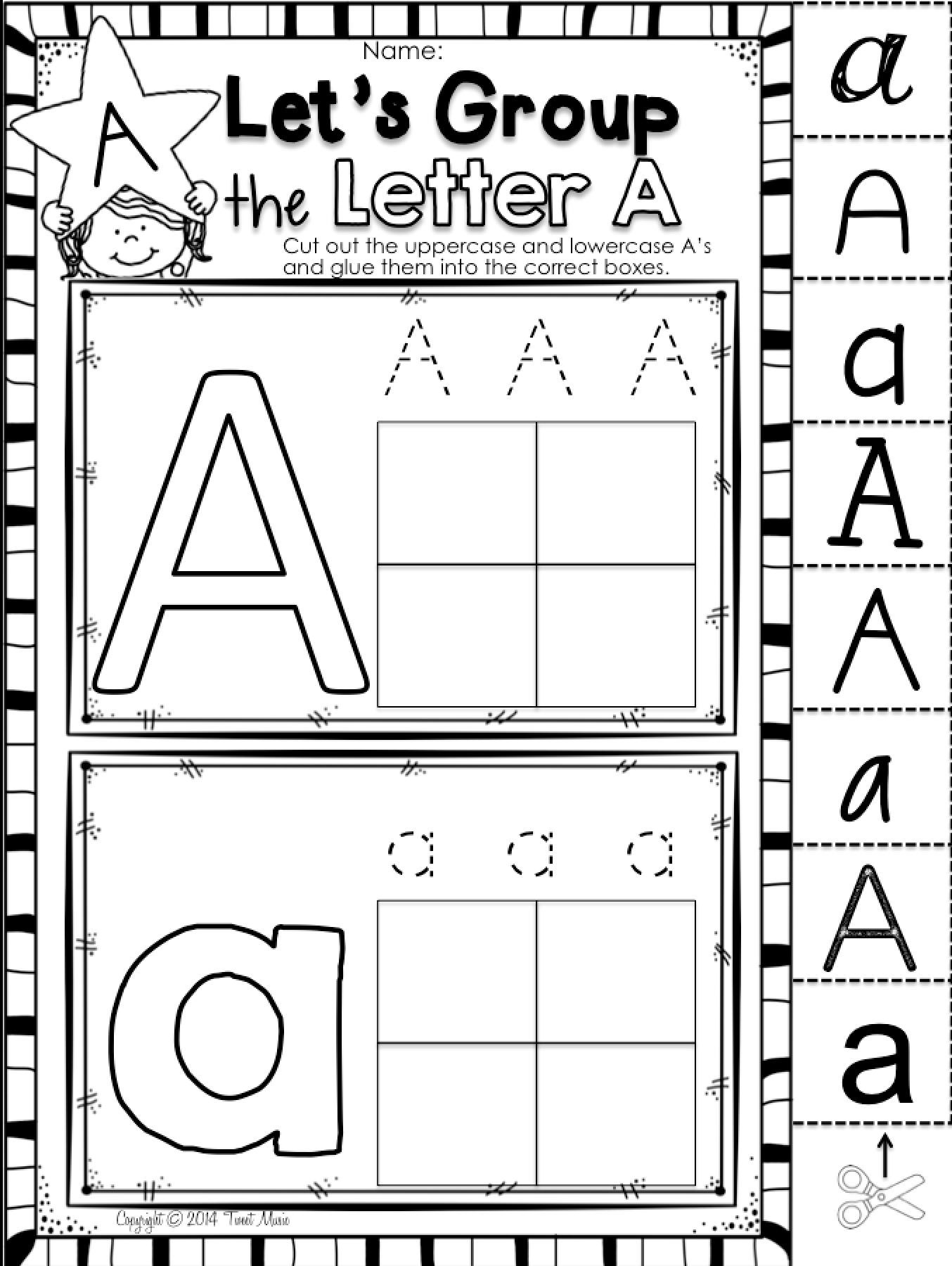 Learn About The Letter A With This Uppercase And Lowercase