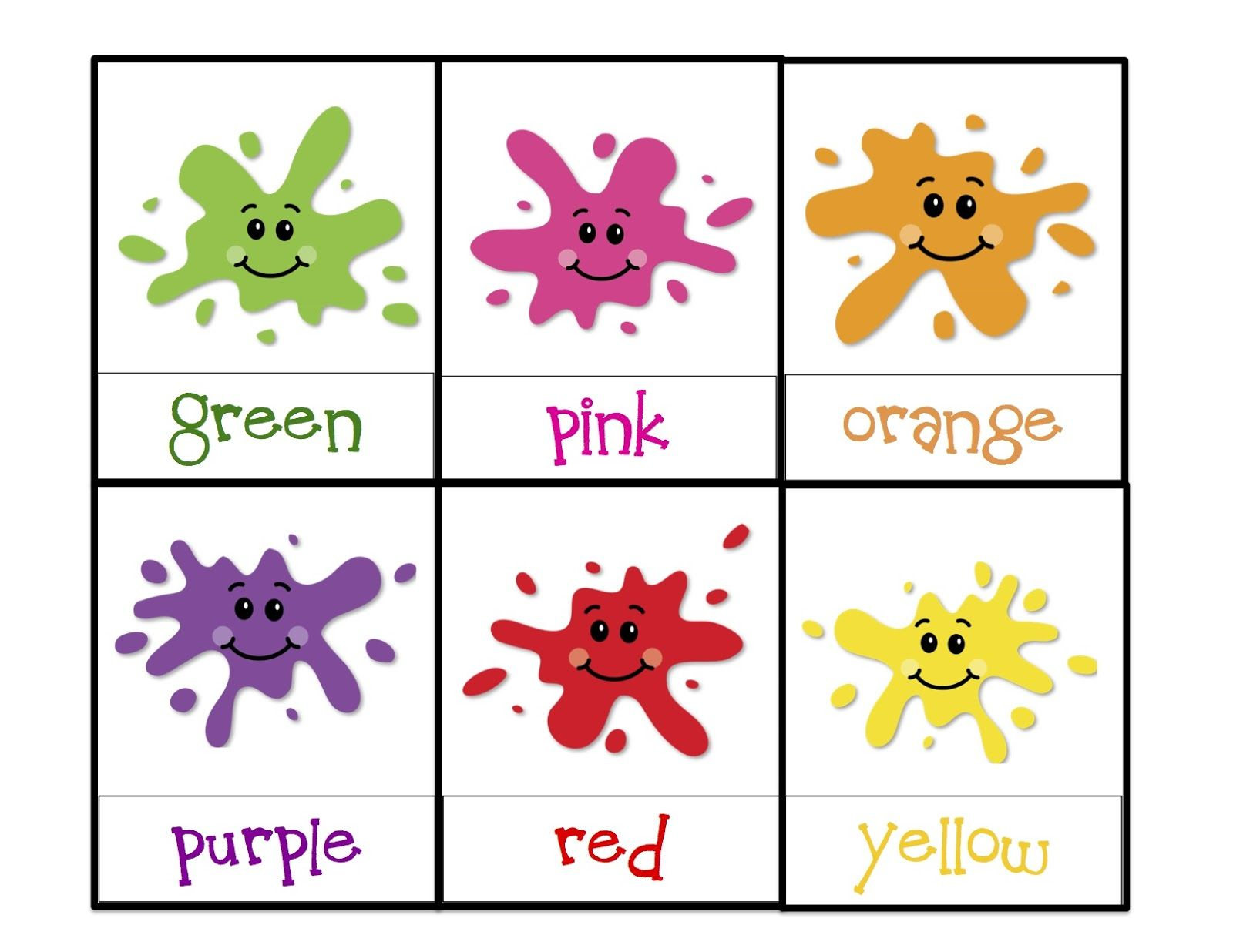 Printable Learning Colors For Toddlers