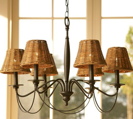 Graham Chandelier Pottery Barn Breakfast Nook They Offer White Linen Shades Total Cost