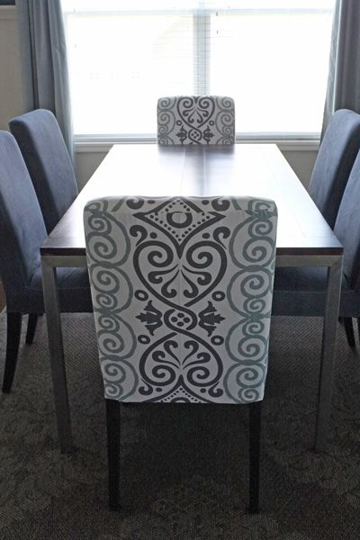 DIY Dining Chair Slipcovers From A Tablecloth Middle