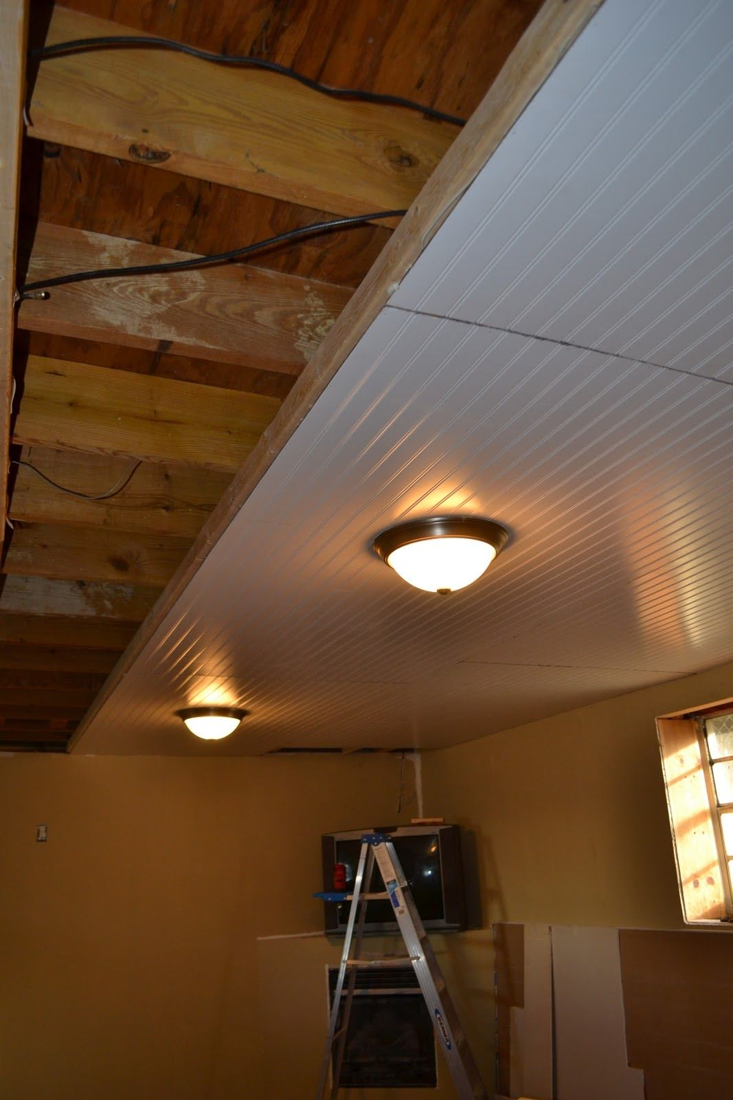 Basement ceiling installation no more cobwebs in my hair