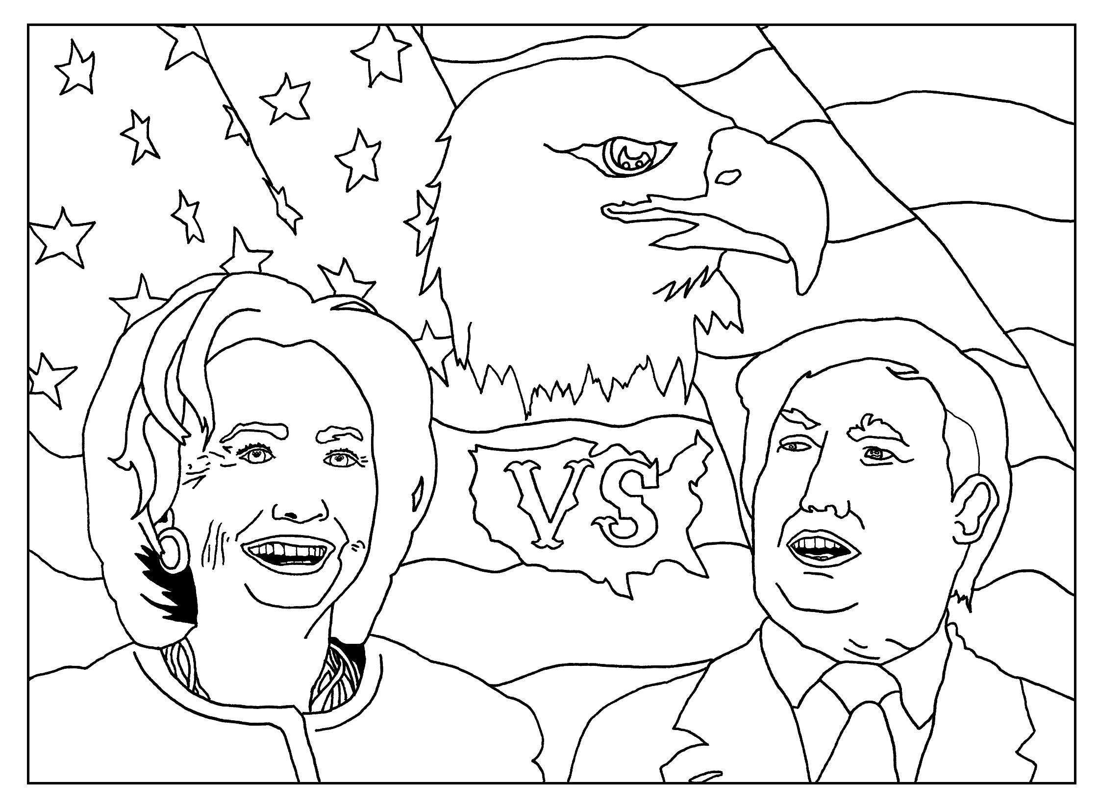 Coloring Page Inspired By The Us Presidential