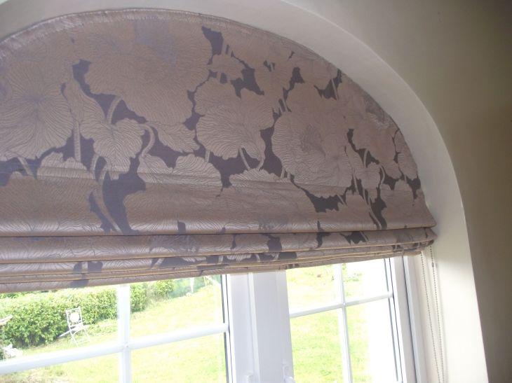 Roman Blind for an arched window  Kitchen  Pinterest  Roman