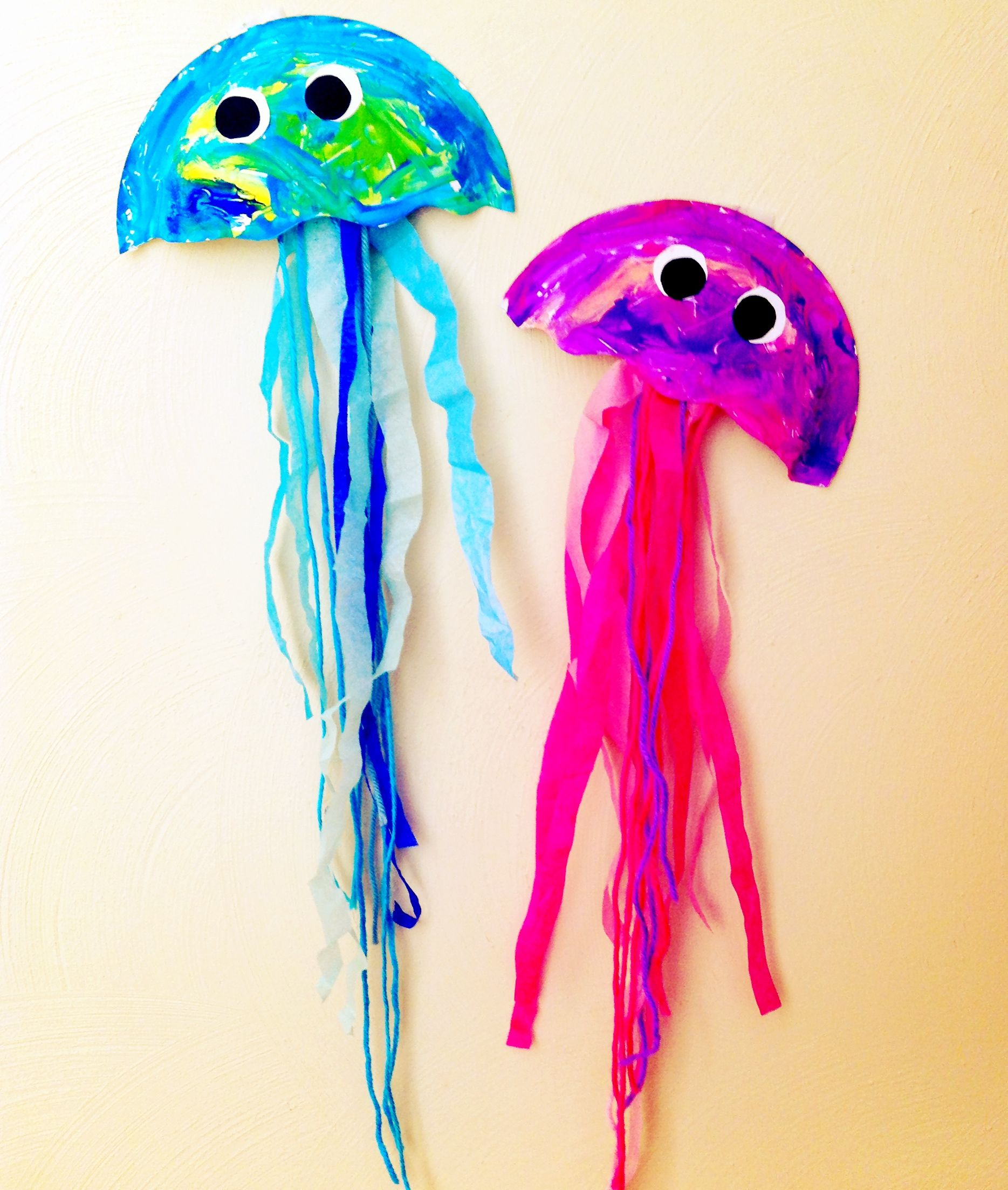 Jellyfish Craft Made From Paper Bowls