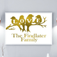 Personalised family print personalised new home print rose gold