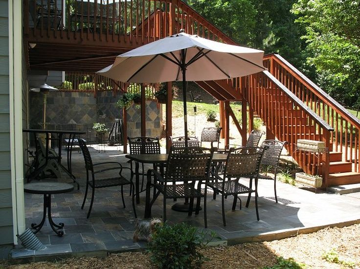 walkout basement deck and patio ideas - Google Search ... on Walkout Patio Ideas id=91049