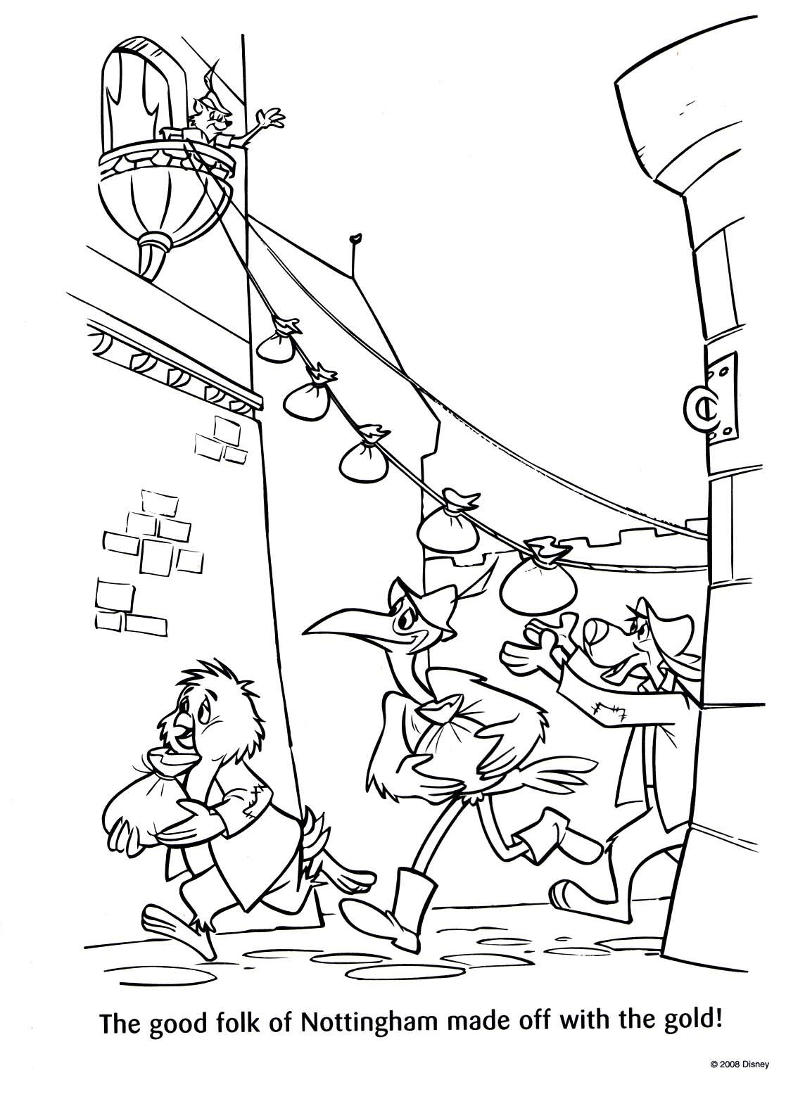 Disney Coloring Pages Robin Hood