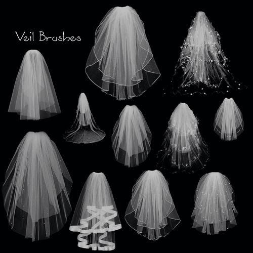 Photoshop Brush Pack Wedding Veils Wom4ns Delight