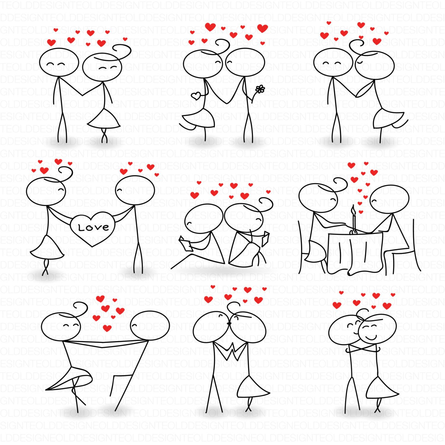 Stick Figure Clipart Clip Art Love Stick People By