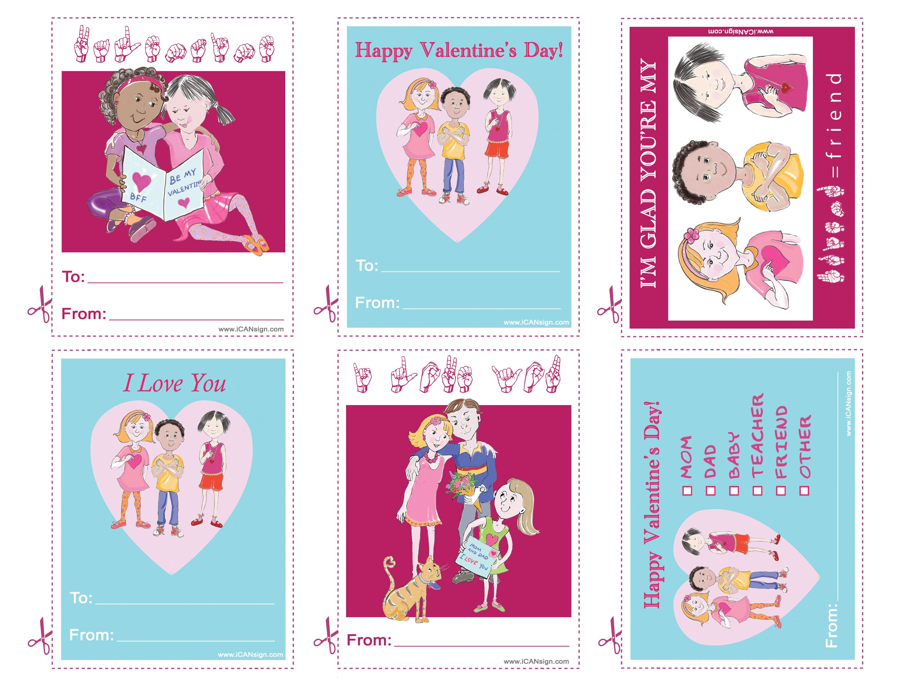 Printable Valentine S Day Cards That Say I Love You In