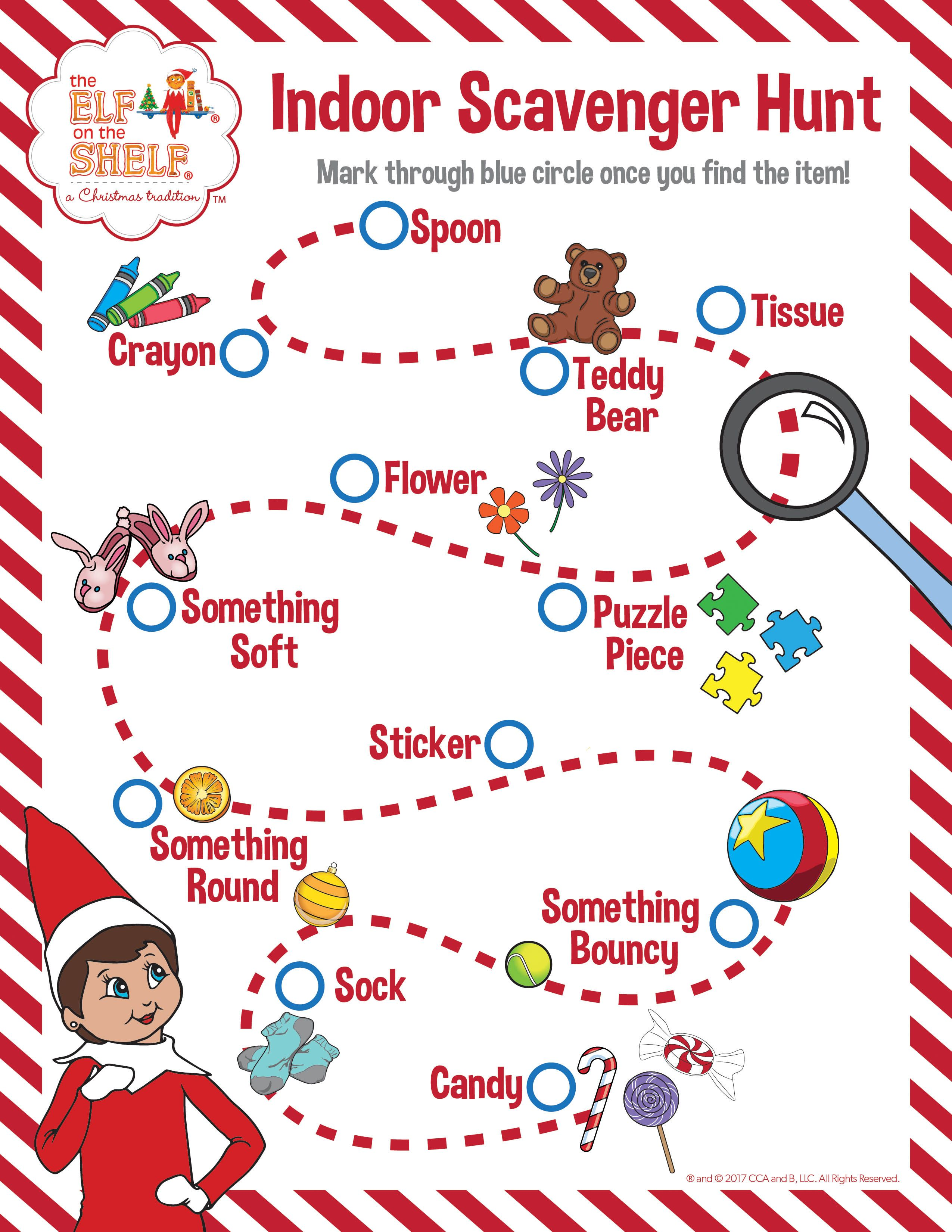 Indoor Scavenger Hunt For Kids See How Many Items You Can