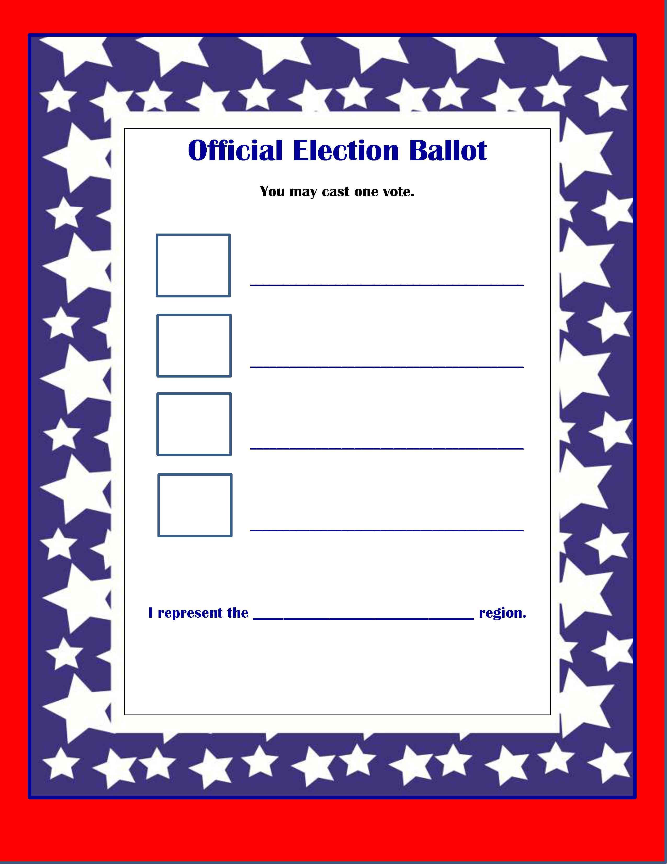 Presidential Mock Election Activities For Kids