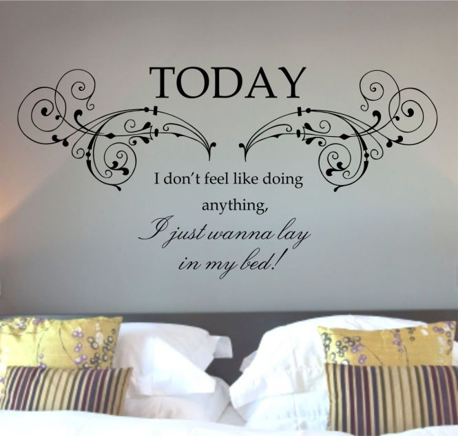 Mars Lazy Song Quote Wall Art Sticker Decal Mural