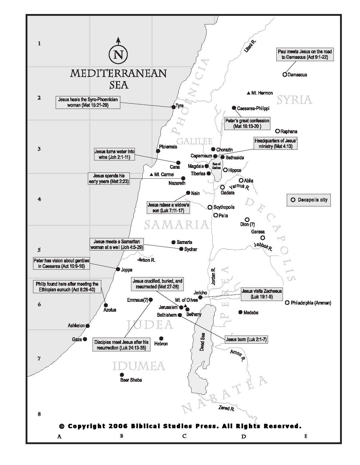 Biblical Maps New Testament Net Bible Maps Bible
