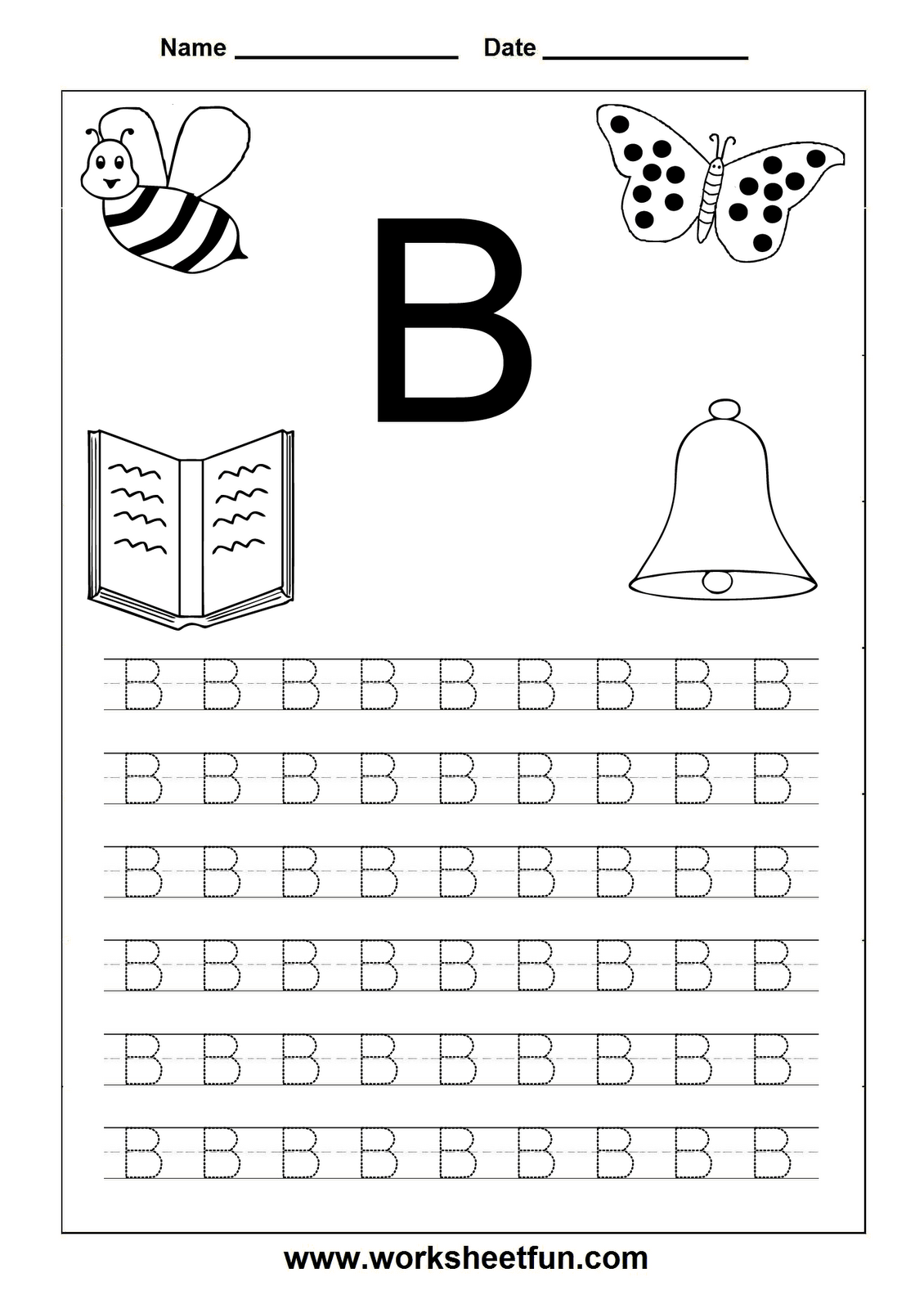 Free Printables For Letter Tracing Worksheets For Kindergarten
