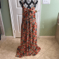 Free people orange floral mulberry maxi dress nwot brand new never