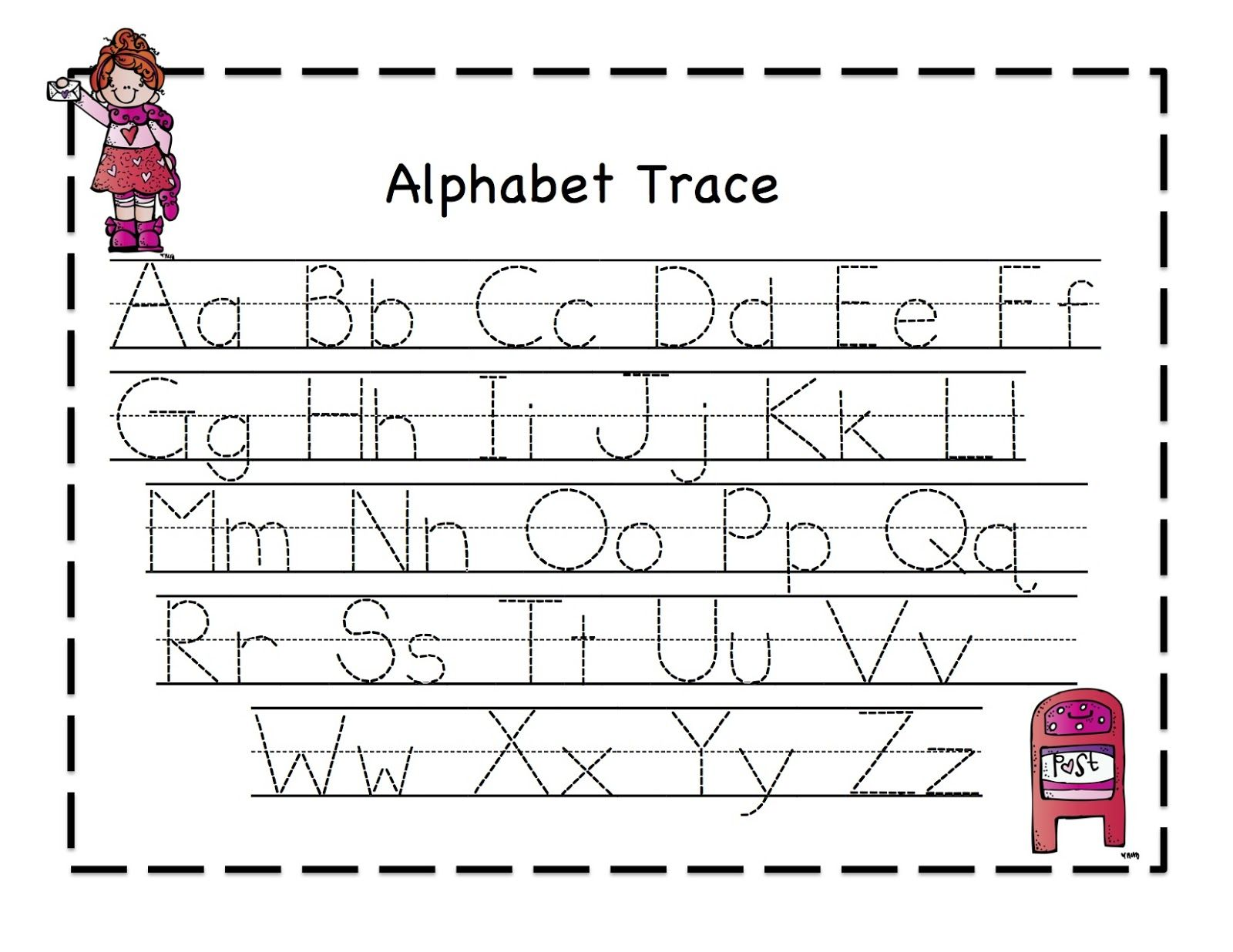 Worksheet Valentine Tracing