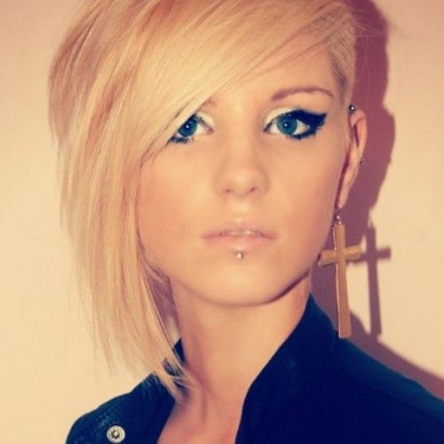 Bob Hairstyles With One Side Shaved Hair