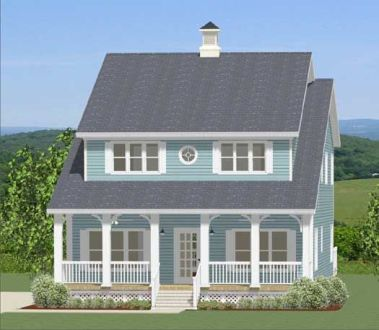 Country Style House Plans   2152 Square Foot Home   2 Story  5     House      Country Style House Plans