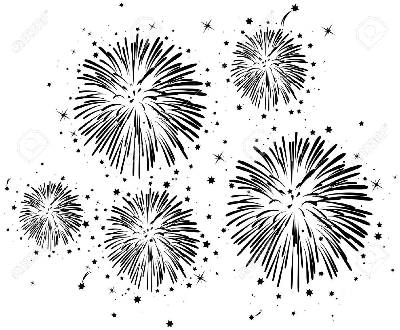 Fireworks Stock Illustrations Cliparts And Royalty Free