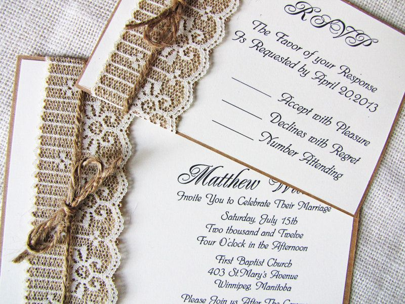 mint lace wedding invitations. rustic wedding check out how to, Wedding invitations