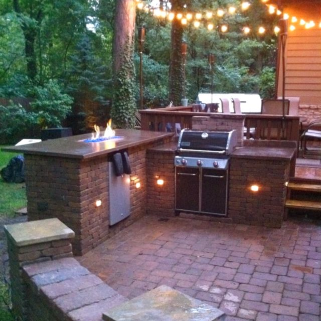 DIY Outdoor fire bar and grill station | Favorite Places ... on Patio Grill Station  id=44471