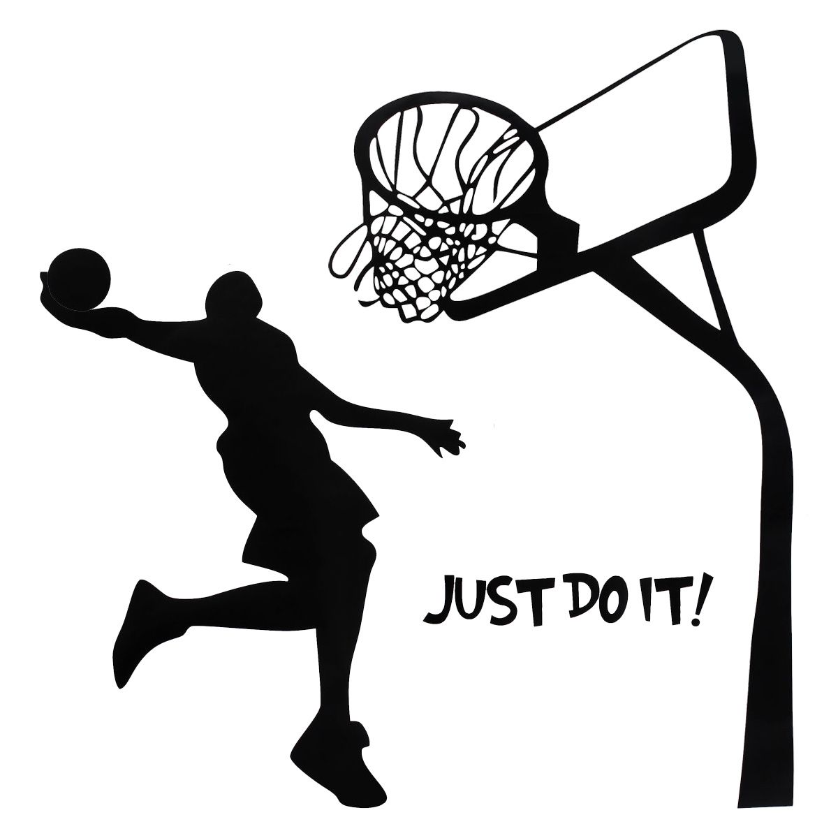 Just Do It Basketball Wall Decal Diy Removable Sports Home