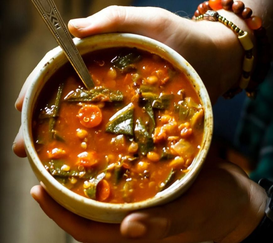 Fat Busting Vegetarian Collard Greens Soup Recipe See More Best Ideas About Vegetaria