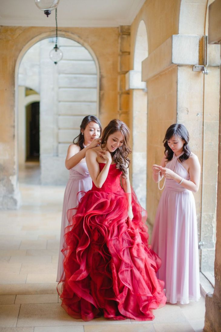Cotswolds Wedding at the Blenheim Palace  Fairytale weddings Red