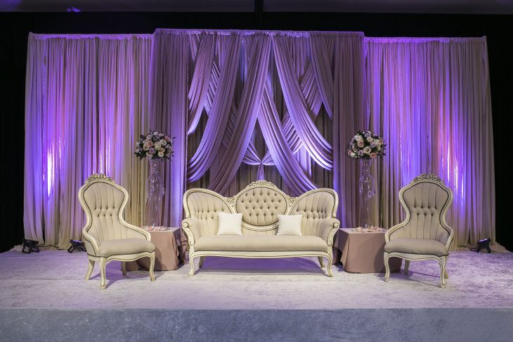 Chic and Romantic Reception Stage sarahkhaneventstyling skes