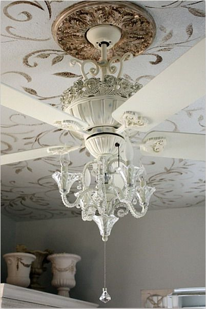 The Best Of Both Worlds Luxurious Chandelier Ceiling Fan