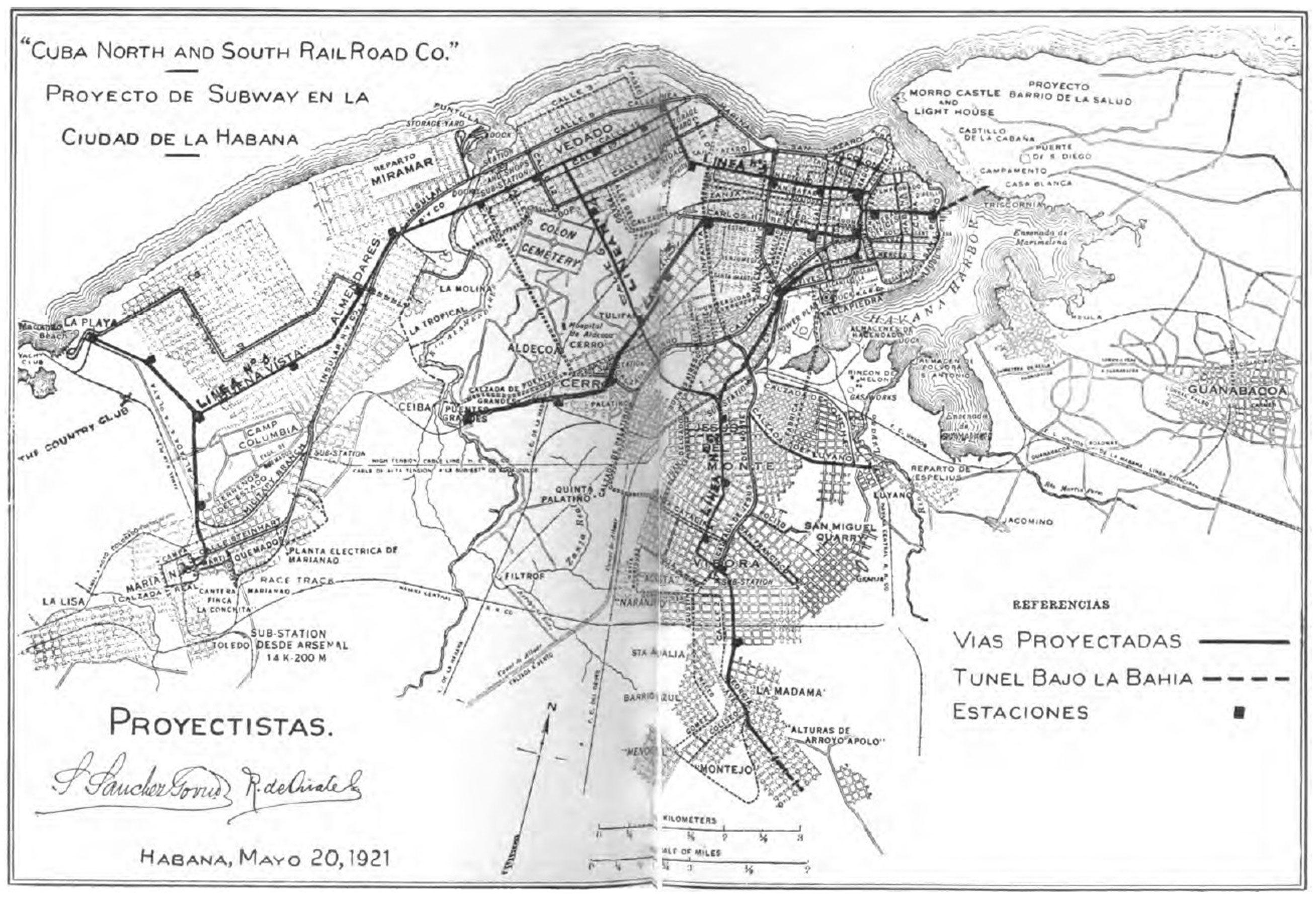 Plano La Habana El Metro Y Sus Lineas Proyecto De