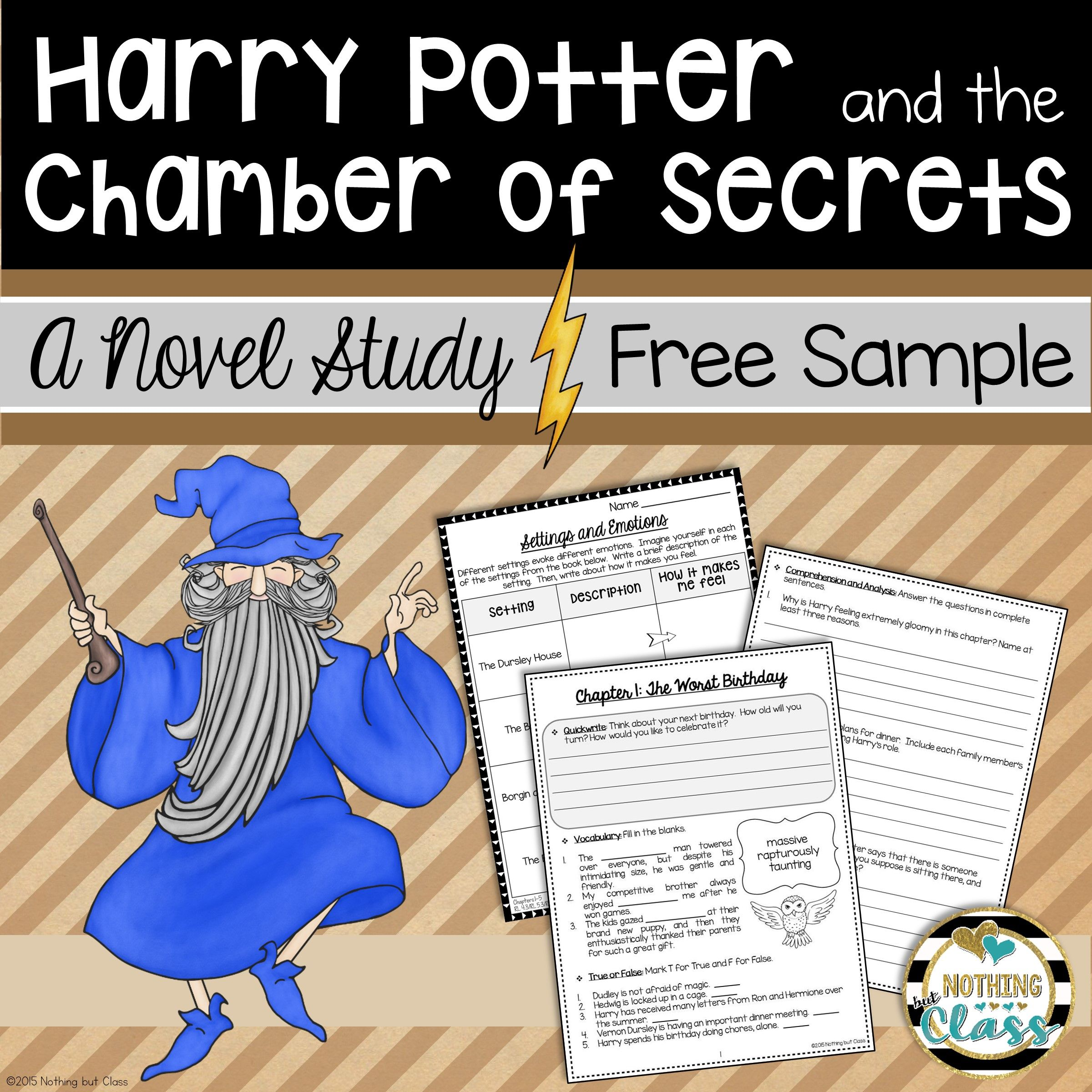 This Is A 7 Page Sample Of My Novel Study For Harry Potter And The Chamber Of Secrets By J K