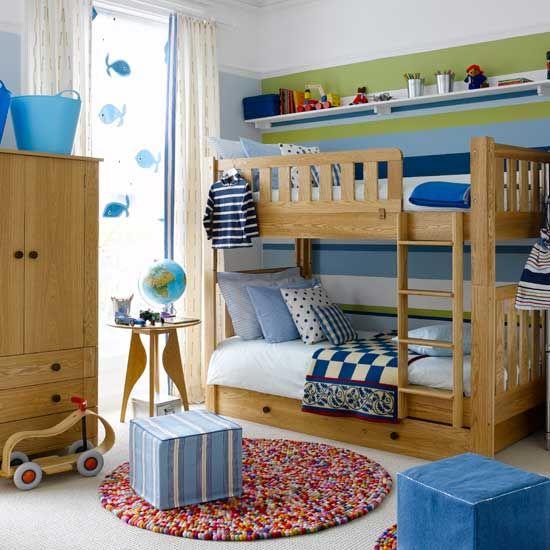 animal nursery children's wallpaper | pine bunk beds, bunk bed and