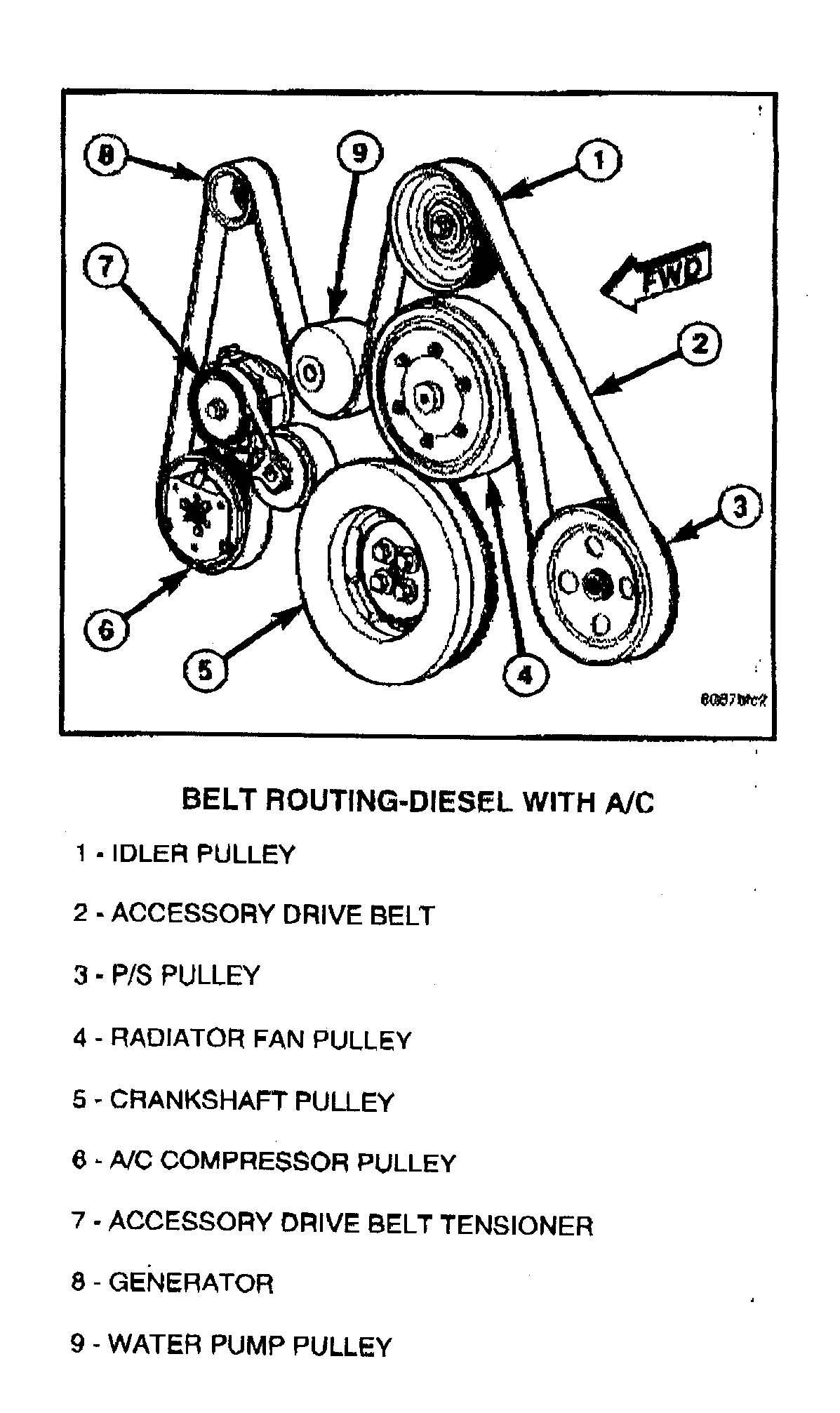 6 7 Belt Routing Diagram