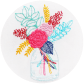 Summer in a jar bouquet embroidery pattern pdf stitches