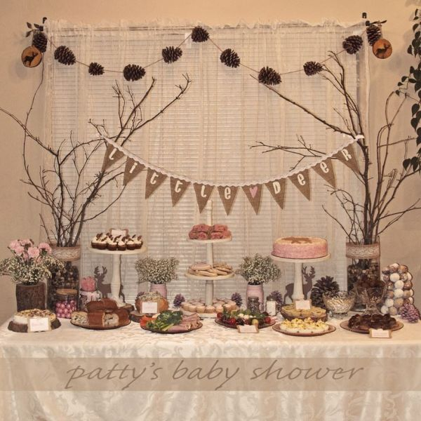 country rustic baby shower | rustic baby shower deer theme ...